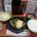 大ハンバーグ定食 ご飯大盛りo(^o^)o