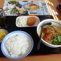 Photos: 山田うどん  唐揚げカレーそば ライス コロッケ