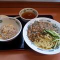 Photos: 日高屋 カパオ汁なし麺 半チャーハン セット
