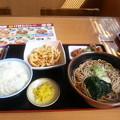 Photos: かき揚げ天ぷらそば 大盛り ライス 唐揚げ