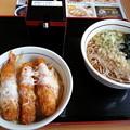 Photos: 山田うどん 日替わり  エビフライ丼セット