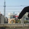 写真: 錦糸町駅。あれなんじゃ?