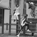 写真: 公園で遊ぶ子どもたち