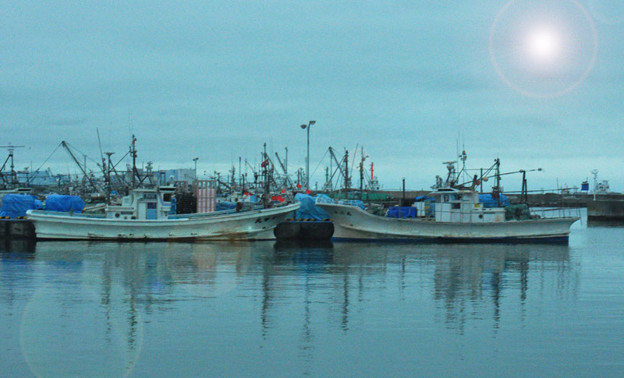 Photos: 漁船のシンメトリー