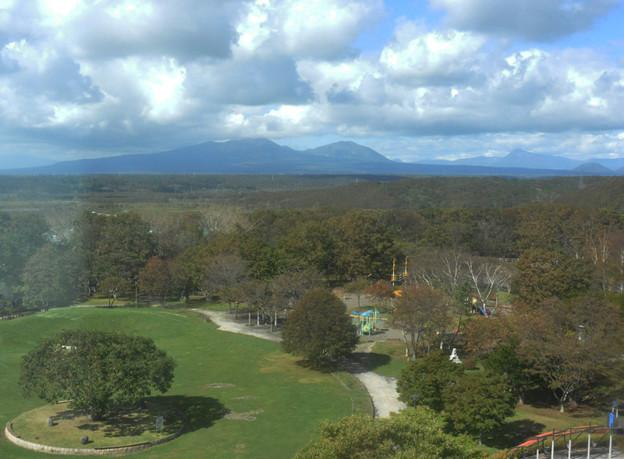 展望台から見た樽前山