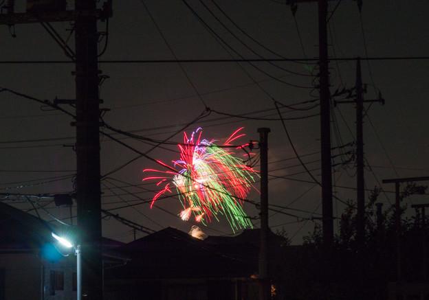 団地の花火