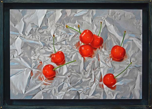 Cherries on Aluminum Foil