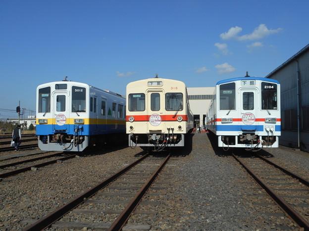 #3712 関東鉄道キハ5012・キハ316・キハ2104 3並び 2018-11-3