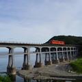 写真: JR西日本 山陰線 宇田郷鉄橋 キハ40