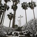 写真: 雪のキリシタン館