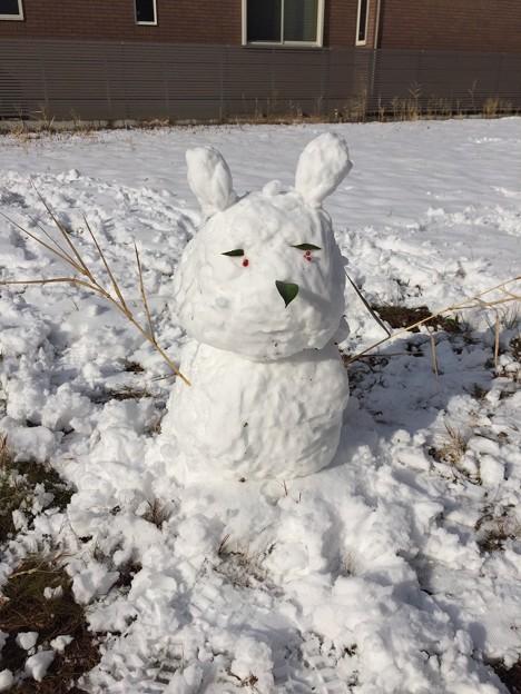 でっかい雪だるま 名古屋大雪