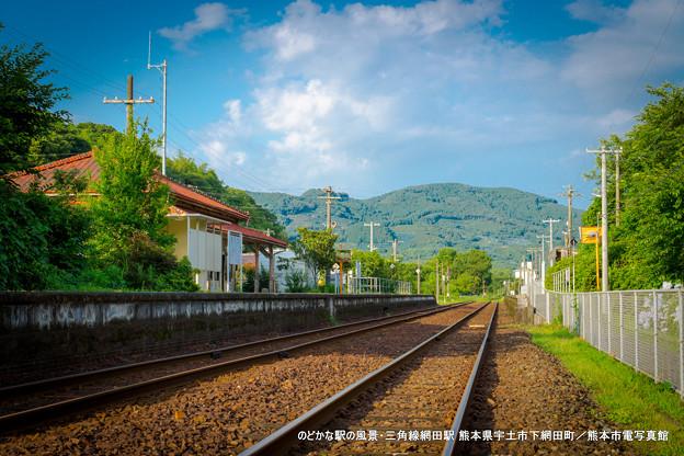 のどかな駅の風景。