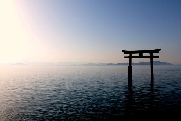 琵琶湖の朝