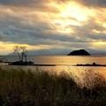琵琶湖の夕凪