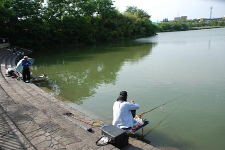 新海池公園(釣人4)