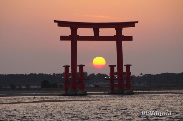 浜名湖弁天島の夕日