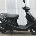 CE11A アドレスV100 黒 サイドスタンド (9)