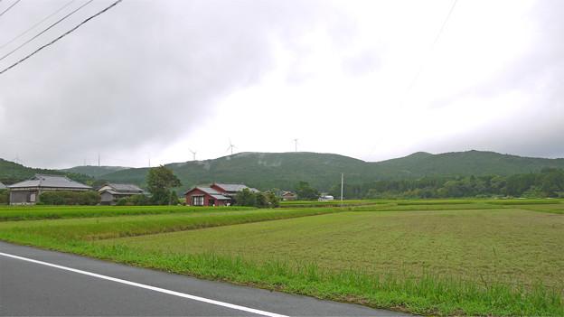 五島の風景と風車