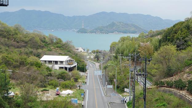 因島大橋(4)遊歩道から見た景色