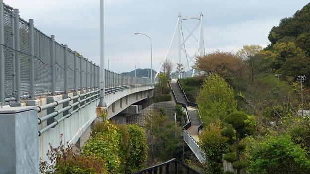 因島大橋(3)大浜PAより遊歩道が続く