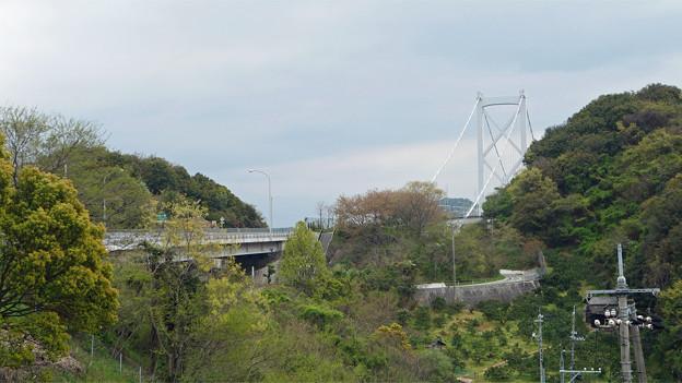因島大橋(1)大浜PAから因島大橋を見る