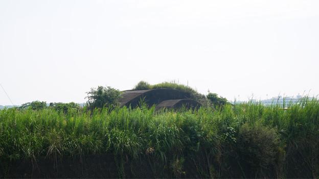 赤江飛行場の掩体壕。のお尻