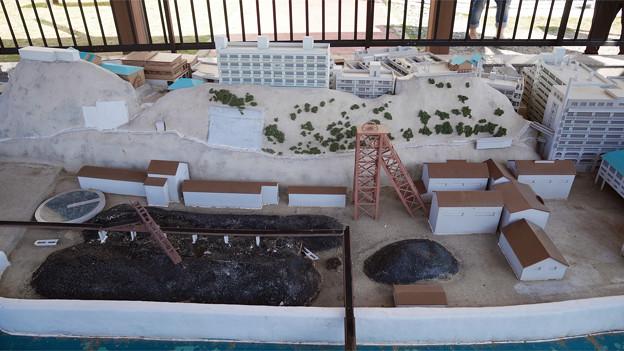 高島 (15) 石炭資料館にある軍艦島の模型