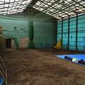 写真: 雨天練習場