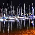 清水港夜のヨットハーバー