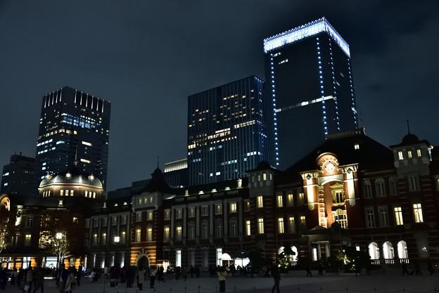 東京駅舎 夜
