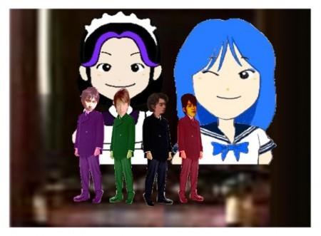 F4ロイド&アンナ☆ランちゃん&まこ☆ミキ