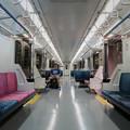 写真: 空曠的車廂