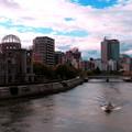 写真: 元安川(午前7時)