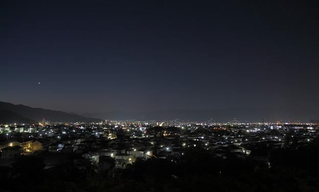 ホテルの窓から 甲府の夜景 3時42分