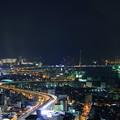 大阪の夜景  高速道路と橋