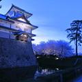 金沢城 菱櫓と桜