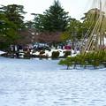 Photos: 雪の霞ヶ池 唐崎松