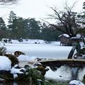 雪の兼六園 徽軫灯籠 虹橋