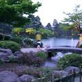 写真: 兼六園 徽軫灯籠と虹橋
