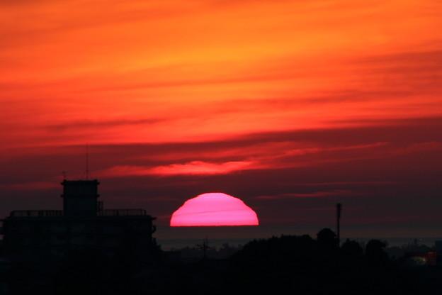 日本海に夕陽が沈む(3)