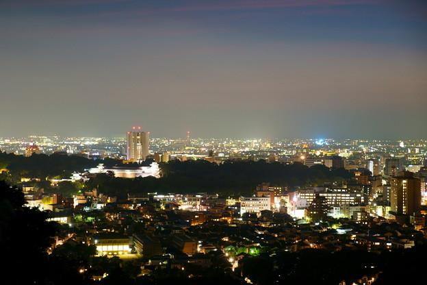 金沢市の夜景と街並み(5) 金沢城