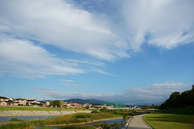 犀川と青空
