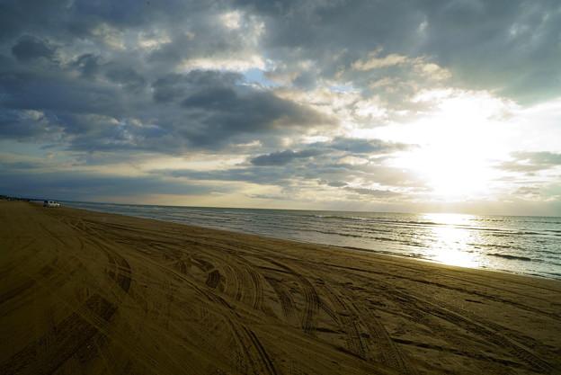 千里浜なぎさドライブウェイ(1) 夕日