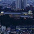 金沢城と金沢地方裁判所(右下)