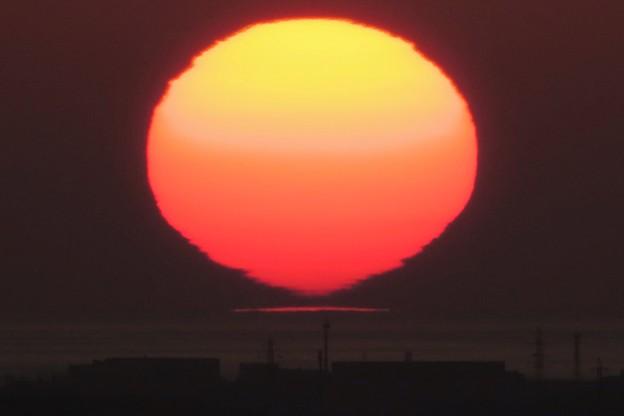 だるまの直前の夕日
