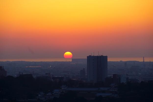 Photos: 卯辰山から 日本海に沈む夕日