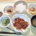 写真: 2月15日夕食(煮込みハンバーグ) #病院食