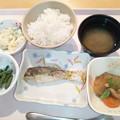 写真: 2月16日夕食(白身魚の香草焼き) #病院食