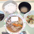 写真: 2月17日夕食(肉豆腐) #病院食