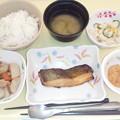 2月19日夕食(カレイのつけ焼き) #病院食